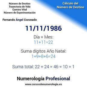 calcular la numerología #numerologia #numerodeldestino #cursosdenumerologia2018
