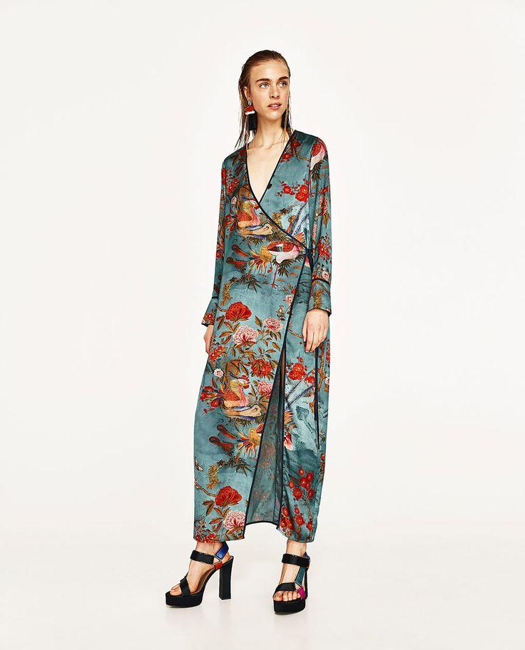 ZARA - WOMAN - PRINTED KIMONO DRESS