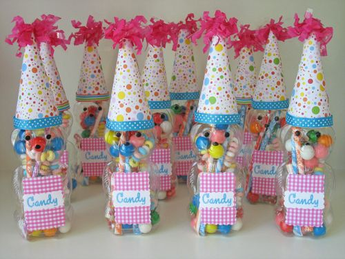 cute candy bear favors from empty honey bottles. Black Bedroom Furniture Sets. Home Design Ideas