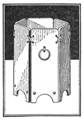 "Fairly simple waste basket design from ""Carpentry for Beginners"" by John Duncan Adams, 1917. (Download the book here, for the directions: http://books.google.com/books/download/Carpentry_for_Beginners.pdf?id=PgQKAAAAIAAJ) page 71"