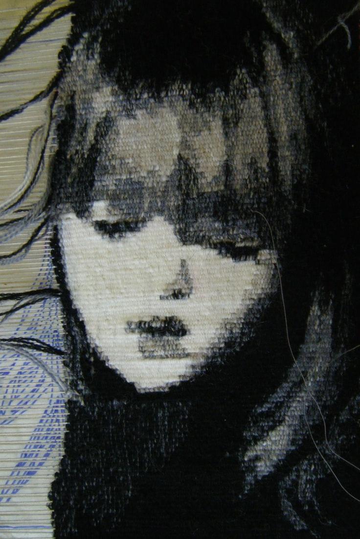 Emma Jo Webster - portrait of a girl being woven