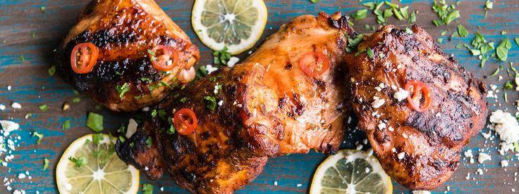 Grilled Greek Chicken Garlic & Lemon Recipe | Traeger Wood Fired Grill