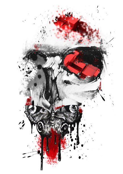 trash polka tattoo designs