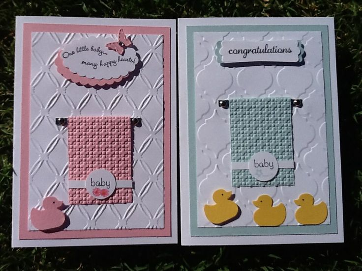Baby Cards, using that lovely Towel idea