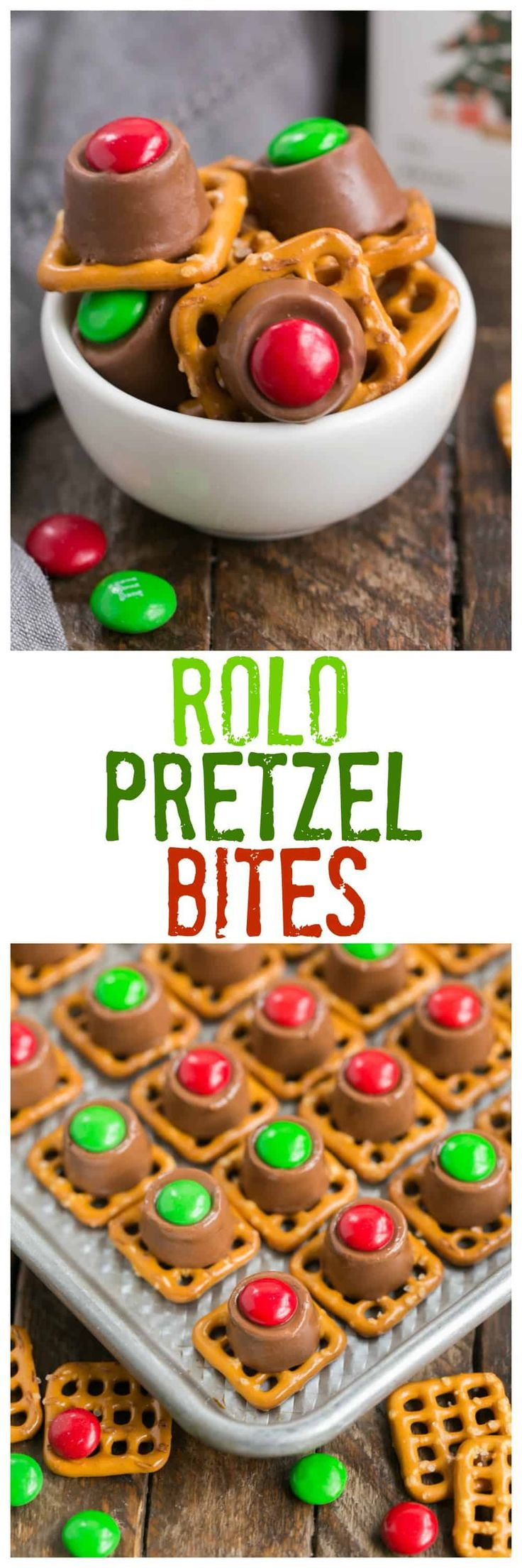 Rolo Pretzel Bites | A super easy, sweet and salty, chocolate, caramel and pretzel treat! #snacks #easyrecipes #pretzels