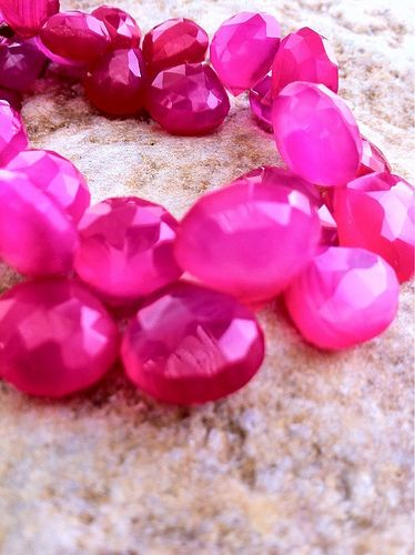 Hot pink chalcedony