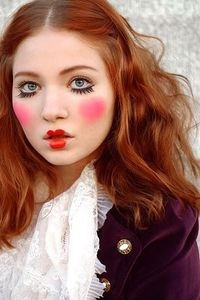 Halloween Makeup Inspiration! Clown? Pippy Longstocking lol ?!l, CLICK ON http://pinterest.com/lsltheman2000/sexy-geek-you-will-love/ To See More Sexy Geeks>>>>>>> >>>>>>CLICK ON  http://pinterest.com/lsltheman2000/add-me/  TO BE ADDED.