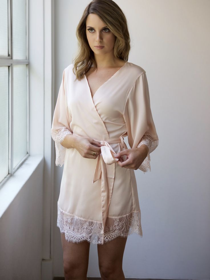 Pretty burgundy bridal robe for brides, bridesmaids or engagement parties. Designed by Bronte & Clyde - repin on your inspo board now!