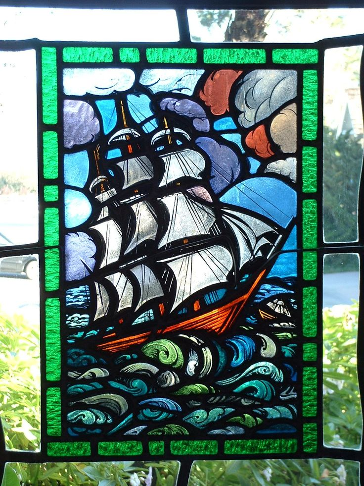 157 Best Transportation Water Stained Glass Images On