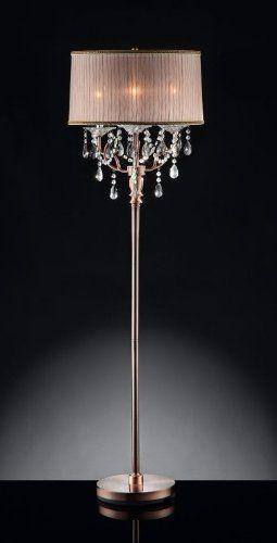 62u0027u0027 H Rosie Crystal Floor Lamp HP http://smile.amazon