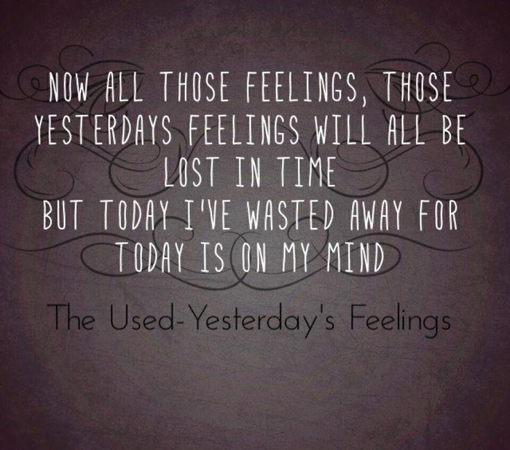 10. Yesterday's Feelings