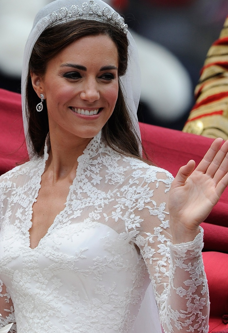 Kate Middleton's wedding dress. Designed by Sarah Burton of Alexander McQueen's.