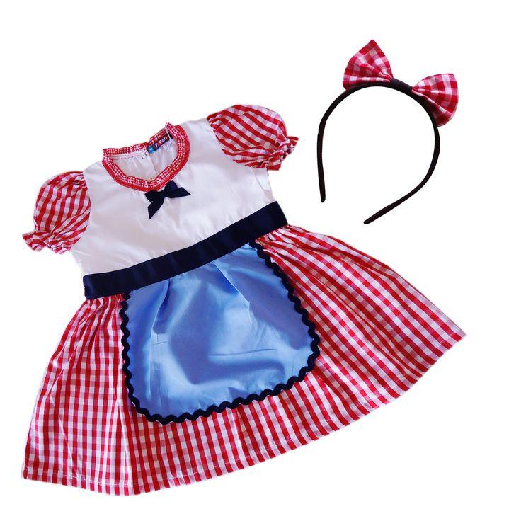 Fantasia Chapeuzinho Vermelho - Bambalalão Brinquedos Educativos