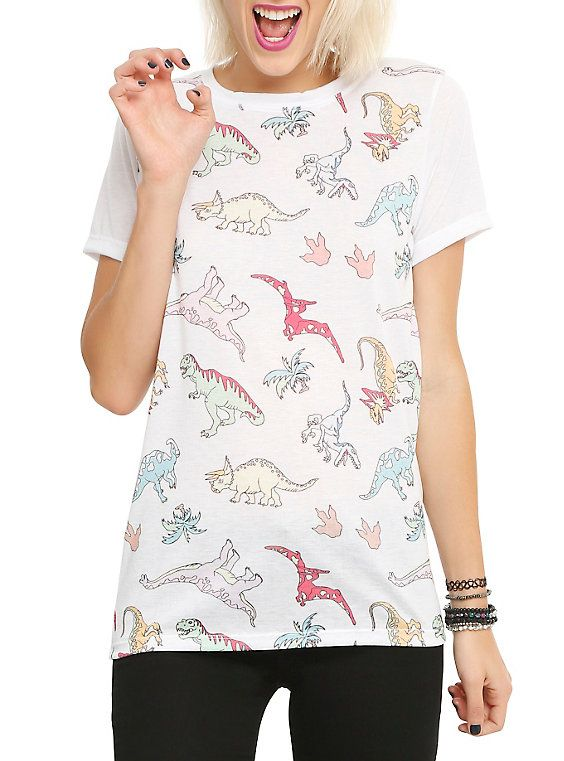 How To Draw A Dinosaur Girls T-Shirt,
