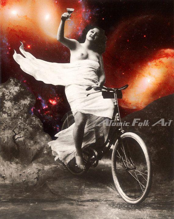 34 best Atomic Folk Art images on Pinterest   Art collages ...
