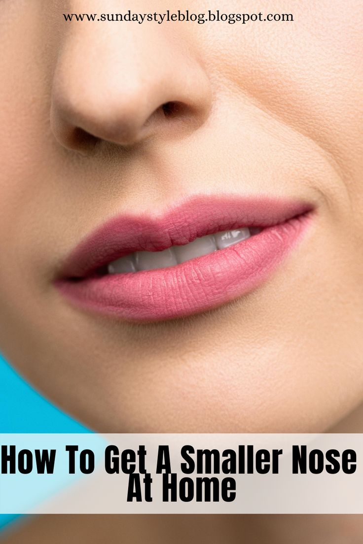 How To Get A Smaller Nose At Home in 2020 Brown spots on
