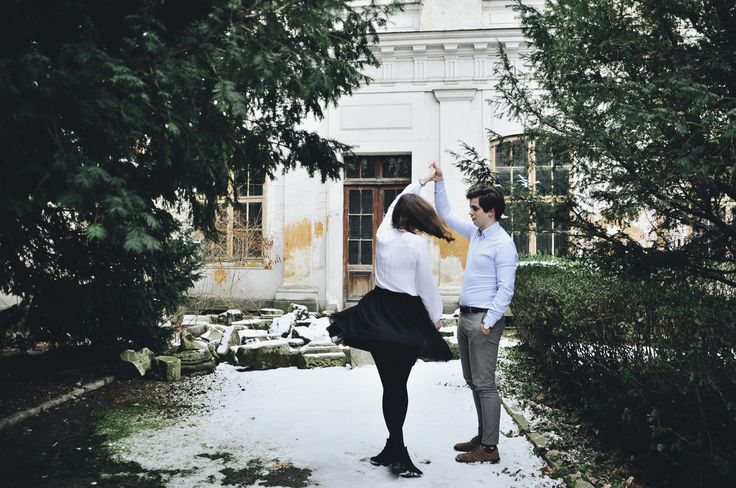 His ballerina. Couple photoshoot