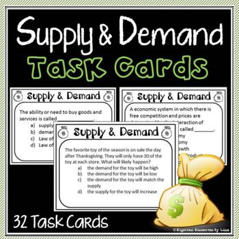 Supply and Demand Task Cards!!