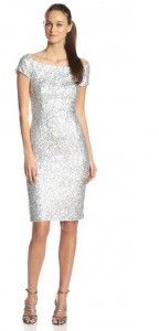 FRENCH CONNECTION WOMEN'S COSMIC SPARKLE CAP SLEEVE DRESS