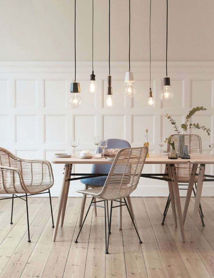 Soft and Light Dining space by Hübsch//