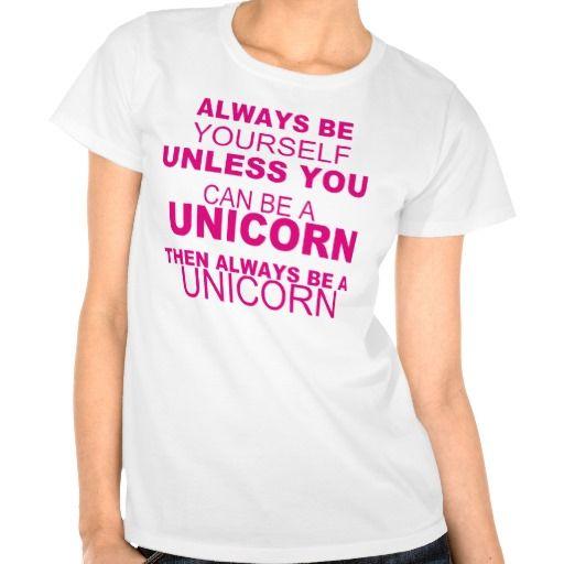 Girls Unicorn Shirt | BE Yourself, BE A Unicorn - T-shirt - Girls | Zazzle