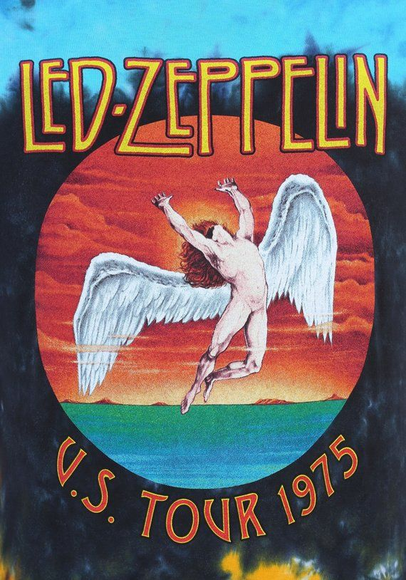 LED ZEPPELIN US Tour 1975 13×19 Rock Band Art Poster