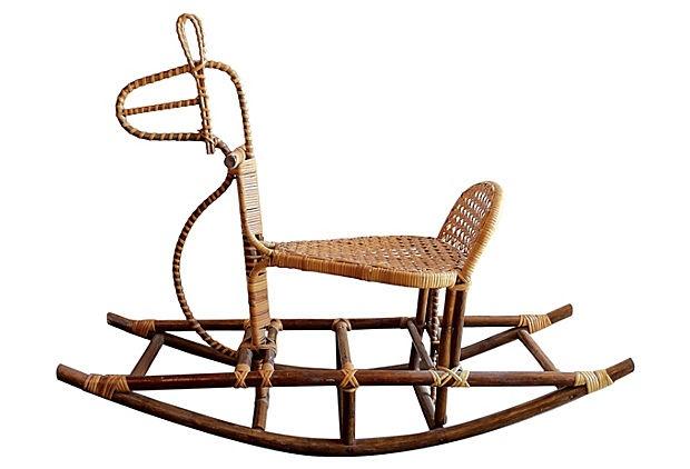Woven Rocking Horse on OneKingsLane.com