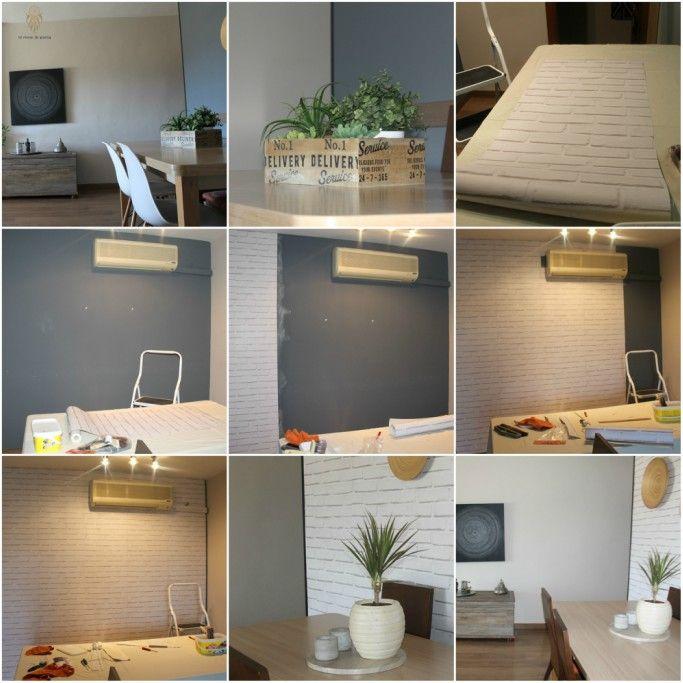 MI RINCÓN DE SUEÑOS: Decorar pared del comedor con papel efecto ladrillo