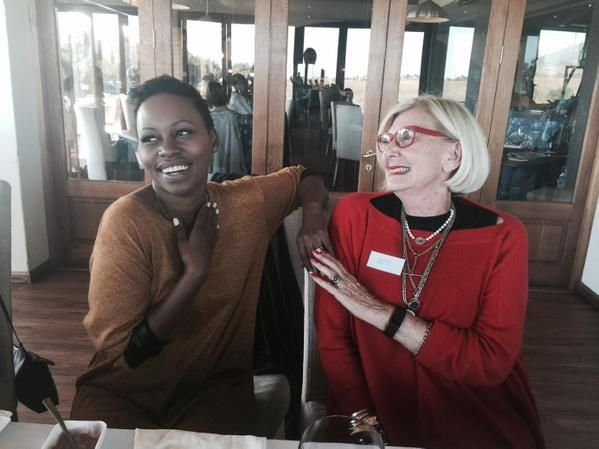 With Elana Afrika Bredenkamp at De Grendel