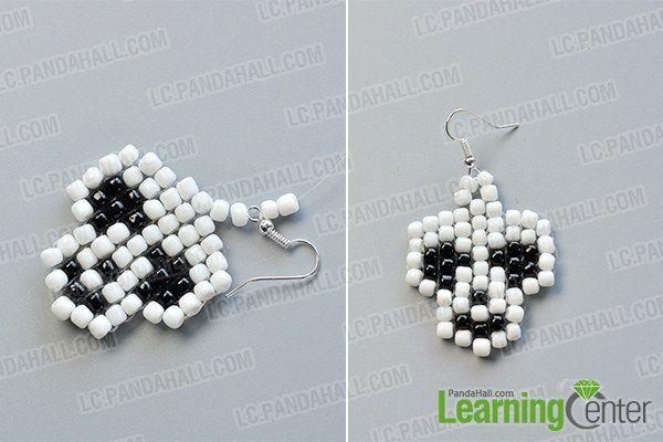 make the rest part of the white and black bead skull earrings