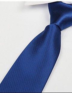 klassiske kongeblå mænd twill slips pil Jacquard voksen slips
