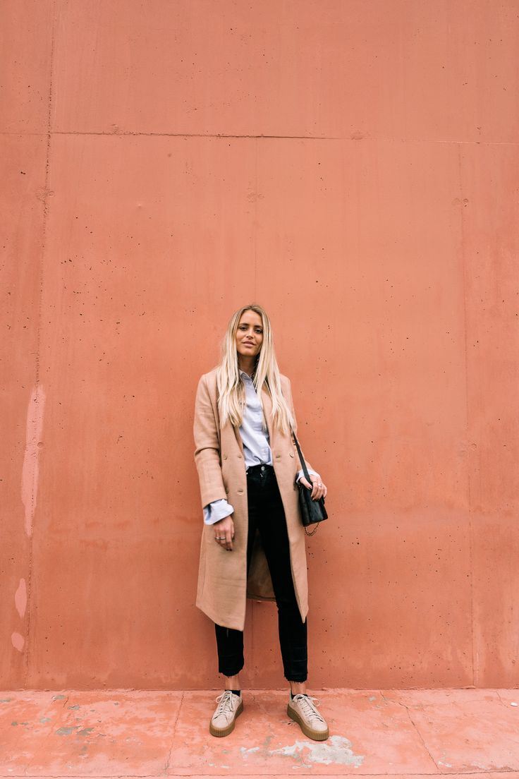 Camel coat and matching shoes | Janni Delér