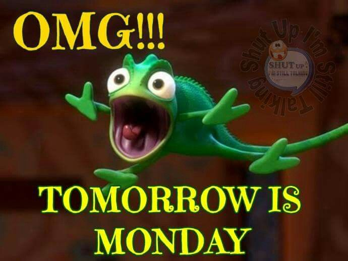 OMG!!!  Tomorrow is Monday.   Use on a Sunday