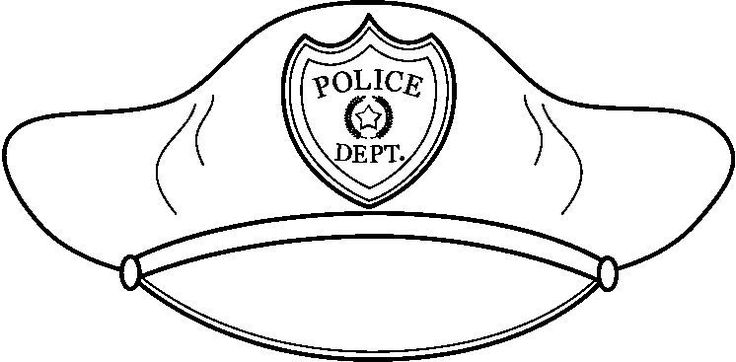 Police Officer Hat Coloring Page Anastasia Amp Elena