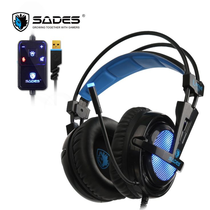 On sale US $39.99  SADES Locust Plus 7.1 Surround Sound Headphones soft-leather earmuffs Gaming Headset elastic suspension headband Earphones  Available latest products: Tablet PC