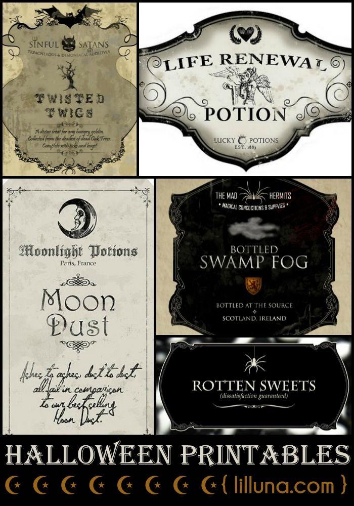 halloween potion labels martha stewart
