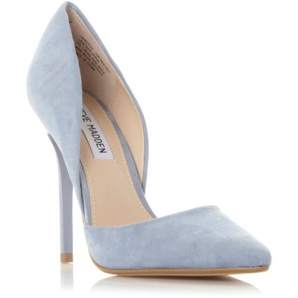 Steve Madden Varcityy pointed court heels ❤ liked on Polyvore featuring shoes, pumps, heels, pointy-toe pumps, steve-madden shoes, pointy shoes, pointed-toe pumps and blue heel shoes