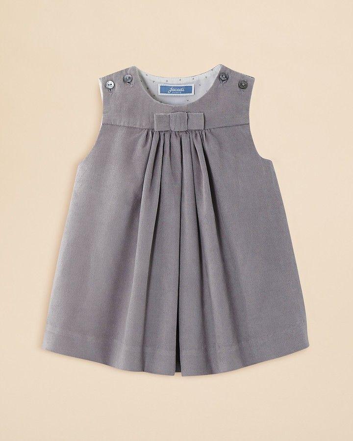 Jacadi Infant Girls Pleated Corduroy Dress Months Z