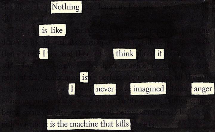 Creatief schrijven idee: Blackout poetry | Newspaper Blackout | Feel Desain