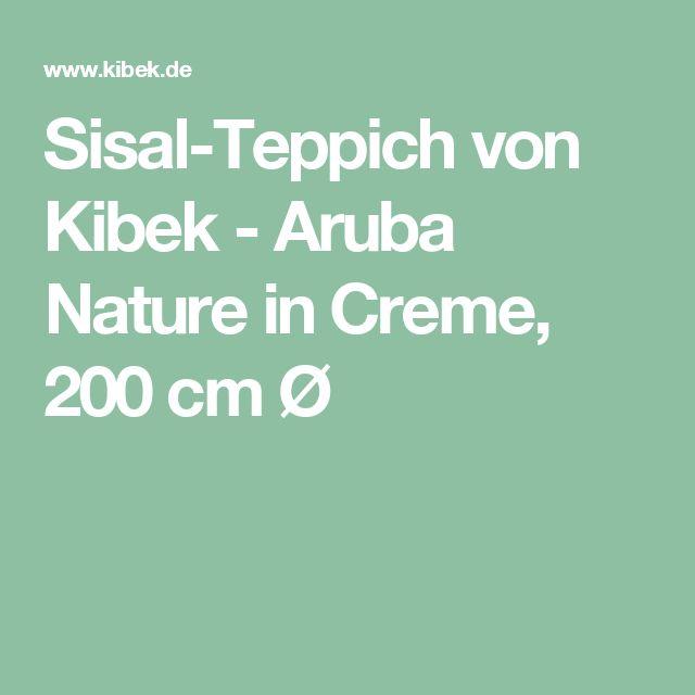Sisal-Teppich von Kibek - Aruba Nature in Creme, 200 cm Ø