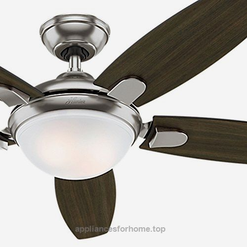 Hunter Fan 54″ Contemporary Ceiling Fan in Brushed Nickel with Energy Efficient LED Light & Remote Control, 5 Blade (Certified Refurbished)  Check It Out Now     $169.00    This is a contemporary fan with a soft-modern style. The integrated glass light fixture is the centerpiece of this d ..  http://www.appliancesforhome.top/2017/03/16/hunter-fan-54-contemporary-ceiling-fan-in-brushed-nickel-with-energy-efficient-led-light-remote-control-5-blade-certified-refurbished/