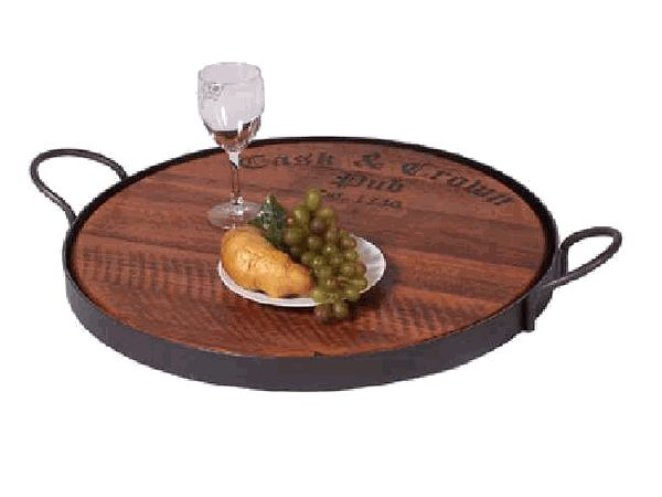 Cask & Crown Serving Tray