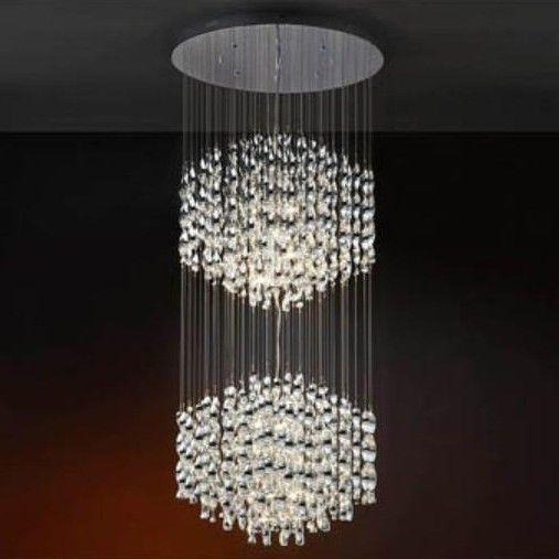 Lustra moderna diam.68cm,H-170cm, LED Espiral 579915G9 - Corpuri de iluminat, lustre, aplice