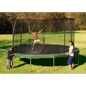 enclosed trampoline - 14' for $267