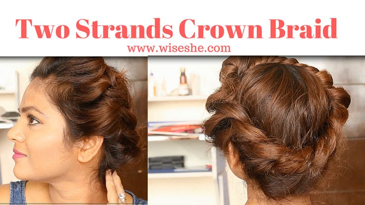 5 Minutes College Hairstyle   Video Tutorial Of Two Strands Braid