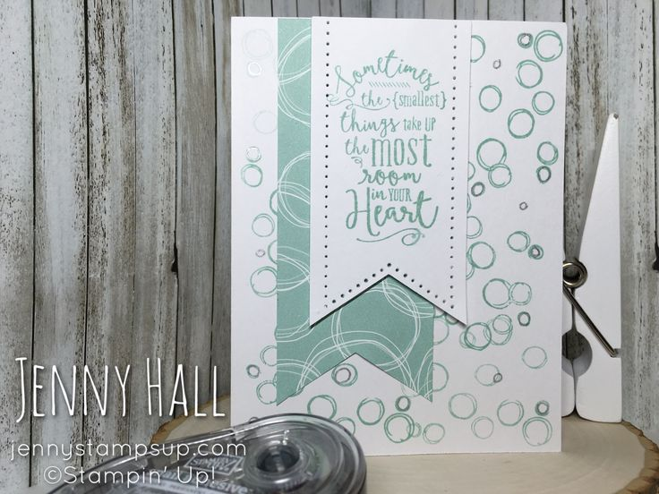 Fizzy Bubbles card using Layering Love and Playful Backgrounds by Stampin' Up! created by Jenny Hall jennystampsup.com