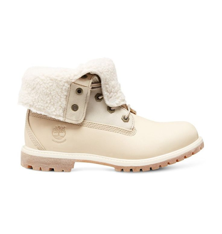 Boots Fourrées Authentics Teddy Fleece WP Fold Down Femme - Blanc