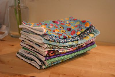 Easy DIY Cloth Paper Towels.  Much better to use for wiping, etc, then re-wash.