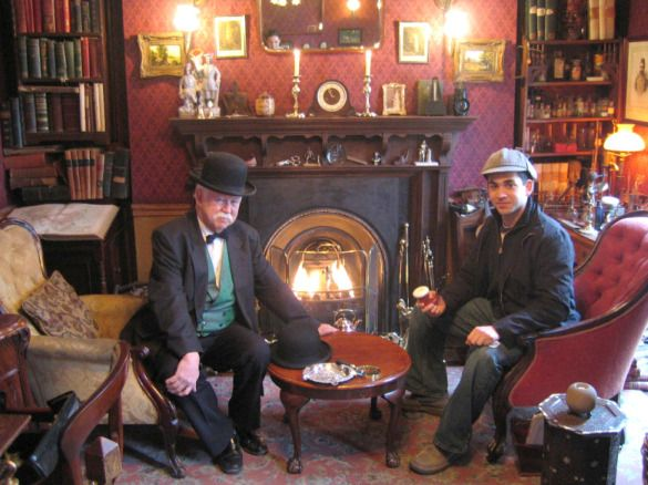 With wax figures of Holmes and Watson and Victorian furnishings, the Sherlock Holmes Museum recreates the fictional world of the famous detective created by Sir Arthur Conan Doyle, the author.