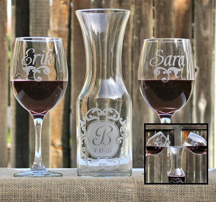 wine unity candle | Wedding Unity Candle Alternative, Wine Unity Set of Personalized ..like this idead with the grapevine wine unity candle maybe priest can bless it.